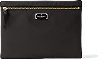 Kate Spade Large Drewe Nylon Travel Cosmetic Case Tech Pouch, Black