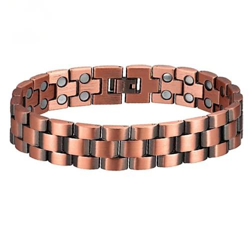 Pulseras magnéticas de cobre para artritis hombres joyería pulsera de cobre regalo de salud para papá marido