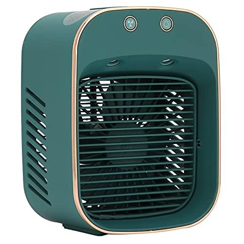 Ventola di Umidificazione da Tavolo con Mini Ventola, Ventola di Nebulizzazione Fredda Ricaricabile USB, Strumento di Spruzzatura per Mini Raffreddatore D'aria con Lampada di Disinfezione