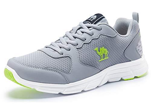 CAMEL Herren Sportschuhe Laufschuhe Sneaker Atmungsaktiv Leichte Traillaufschuhe(40 EU=6.5 UK=Fußlänge 25cm, Grau)