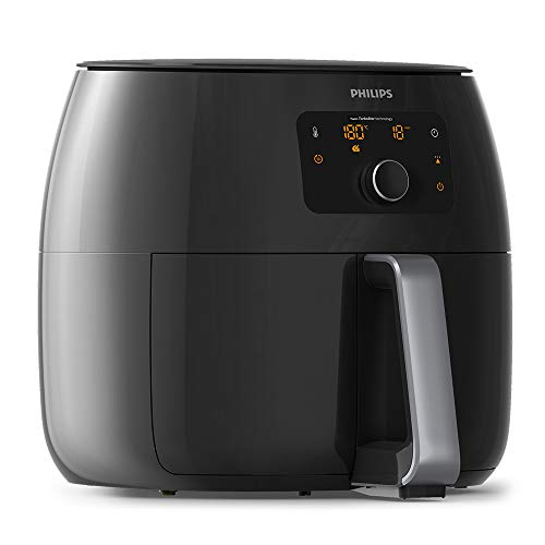Philips Premium Collection XXL Airfryer with Fat Removal Technology and Extra Large Size for Entire Family, 2225 W, 1.4 Litres, Black, HD9650/99