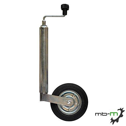mb-m Anhänger Stützrad verzinkt, 48 mm, Vollgummi-Reifen