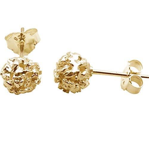 Nugget zilveren kogels hoogwaardig goudsmeedwerk uit Duitsland (sterling zilver 925 verguld) lichte bol oorstekers dames stekers oorbellen