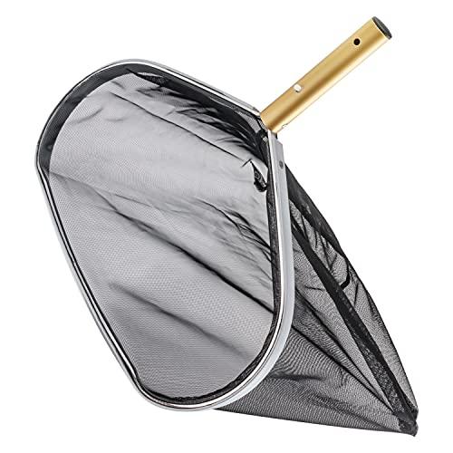 Retino con Sacco per Pulizia Piscina- Robusto telaio in acciaio inossidabile-42 cm di Diametro- Pulizia Piscina Per La Pulizia Delle Foglie e Dei Detriti Della Piscina