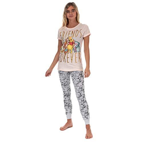 Disney Femmes Winnie l'ourson et Ses Amis Cuffed Pyjama: Moyen (12-14)