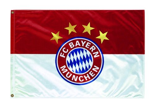 FC Bayern Fahne Originalware Flagge 60 x 90 cm Motiv LOGO + Ösen Service