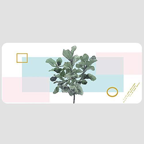 HmDco Extra groot waterdicht slot, spel Green Plant Lock muismat bureaucomputertoetsenbord antislip tafelmat, 300x800x3 mm, ficus acutissima