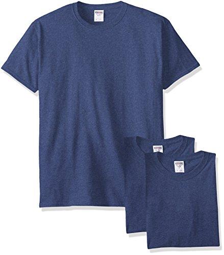 Jerzees Herren Erwachsene Kurzarm T-Shirt 3er Pack - Blau - Mittel