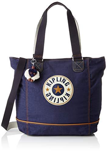 Kipling Shopper C - Borse Tote Donna, Blu (Active Blue Bl)