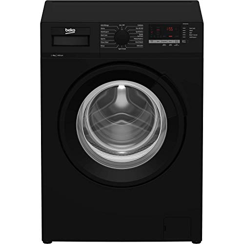 Beko WTL84151B 8kg 1400rpm Freestanding Washing Machine - Black