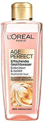 L\'Oréal Paris Gesichtsreinigung, Erfrischendes Gesichtswasser zur Reinigung und Pflege, Für reife Haut, Age Perfect, 1 x 200 ml