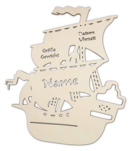 Piraten Lampe Motiv Led Lampe Piratenschiff Geschenke mit Namen Piratenzimmer Zubehör Kinder Junge Zimmer Zubehör Geburt Taufe