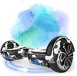 southern-wolf hoverboard, self balance scooter 6.5 pollici monopattino elettrico smart auto bilanciato bluetooth scooter elettrico con due ruote board hover (army green)