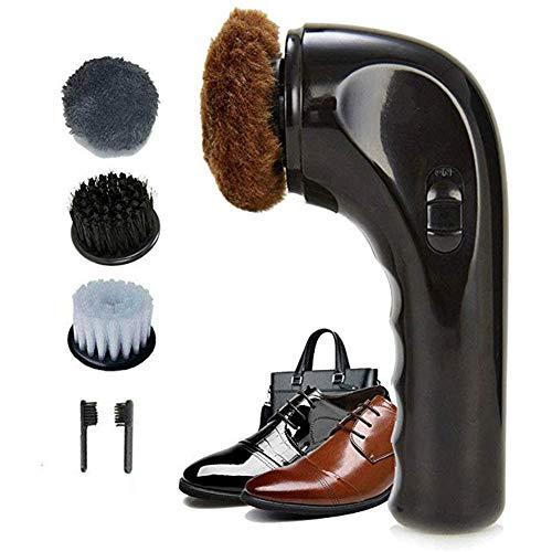 DMZH 1Set Elektrische Schuhputzmaschine Tragbare Lederschuhe Reinigungsbürste Kit