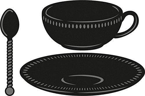 Marianne Design Theekop met lepel Craftable Die, 3 stuks, zwart