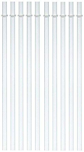10 Pack Reusable Hard Plastic Drinking Straws Thick Heavy Straw Long Enough For 30 Ounce Yeti RTIC Tumblers (9 inch)