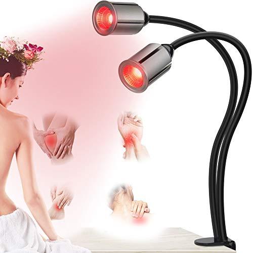 Rote Light Rotlichtlampe Für Haustier, 2PCS LED Rotlichtlampe, Rote Light Beauty Licht, Rote Bulb Massage, 360 ° Verstellbarer, Rotlicht Infrarotlichtlampe Lampe Für Anti-Aging, Schmerzlinderung