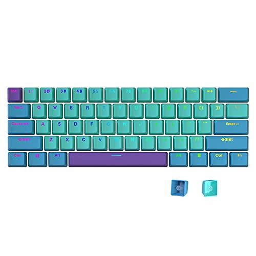 Teclas Taide Shine-Thine, 61 teclas ANSI Layout OEM Perfil PBT Thick Keycaps para teclado 60% mecânico, Color 54