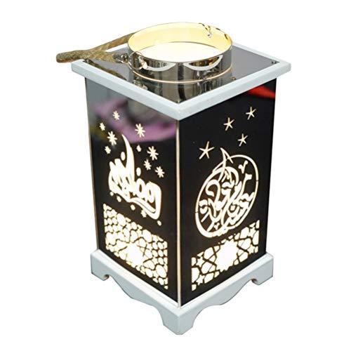 Uonlytech LED Hängende Laterne Vintage Laterne Eid Mubarak Dekorationen Fee Lampe Nachtlicht Geschenk für Hochzeit Geburtstagsfeier Eid Mubarak Party Liefert ohne Batterie