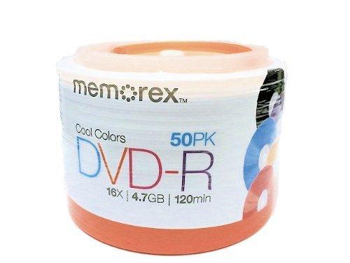 Memorex DVD-R 16x Cool Colors 50PK