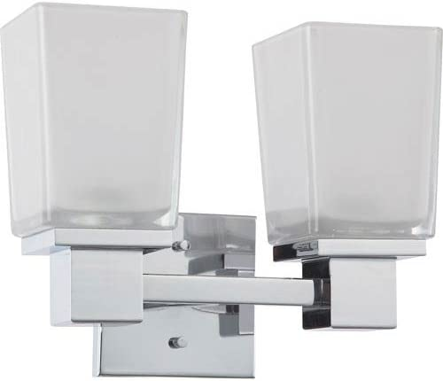 251 First Nicollet Polished Now on sale Very popular Chrome Etched Vanity with Two-Light