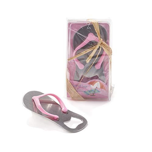 Bonbonnière Ouvre-bouteille en forme de tongs rose, marque-place, cadeau pour les invités