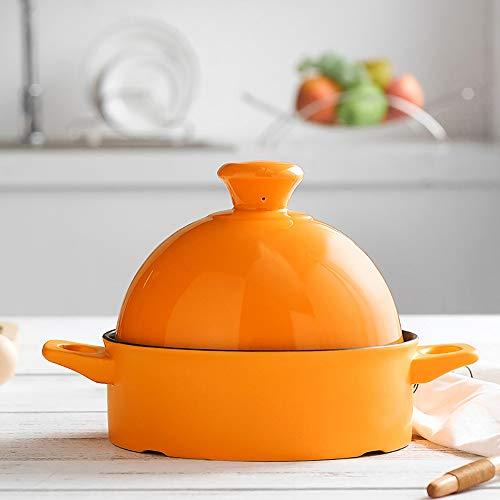 Marokkanische Keramik Tajine Topf, Slow Cooker Ohne Blei Kochen gesunde Ernährung, für verschiedene Kochstile und Temperatureinstellungen, für 2-3 Personen, 1.2L