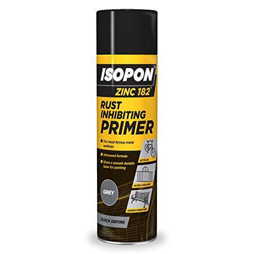 UPOL UPZ182 AL Isopon Zinc 182 Anti-Rust Primer, 450 ml, Aerosol Grey
