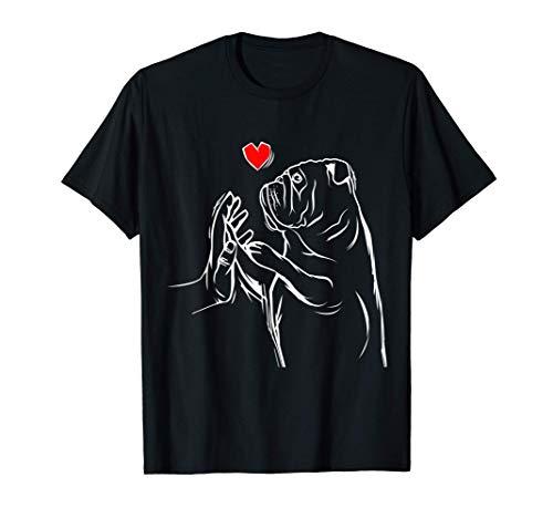 Englische Bulldogge Liebe Bully Frauchen Geschenkidee T-Shirt
