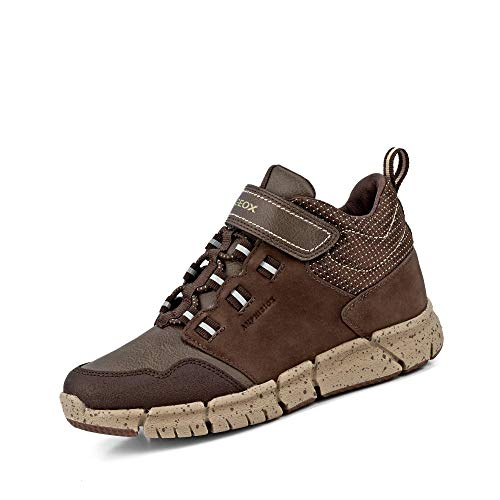 Geox Jungen Winterstiefel FLEXYPER Boy ABX, Kinder Stiefel,Winter-Boots,Outdoor-Kinderschuhe,warm,wasserdicht,Brown/BEIGE,32 EU / 13 UK Child
