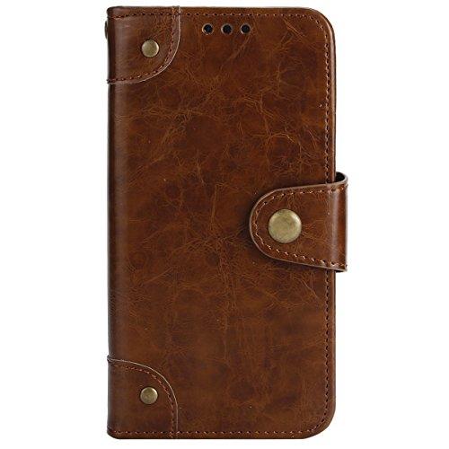 Ekakashop PU Leather Portafoglio Caso Compatibile con Galaxy A5 2017/A520,Bruno