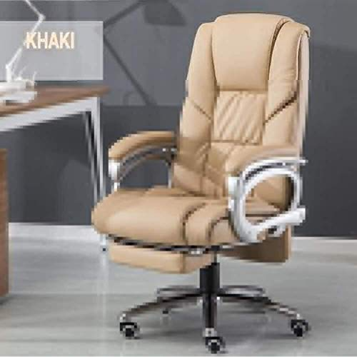 Sillas de oficina, juego de ordenador de escritorio Silla reclinable de cuero con reposapiés inclinación de la siesta altura de la silla giratoria ajustable acolchada Ejecutivo Silla de oficina (Color