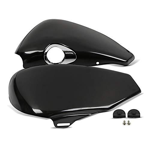 Seitendeckel Set für Harley Sportster 883 R Roadstes 04-13 rechts Links schwarz