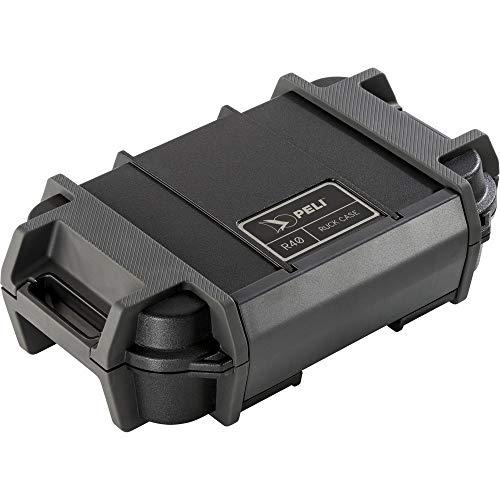 Peli R40 Ruck Coffret à Usage Individuel, Protection Contre Les Chocs pour Les Petits Outils et l'électronique en extérieur, IP68 étanche à l'eau et à la poussière, Capacité de 1,12 L, Couleur : Noir
