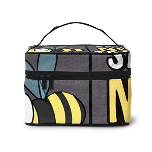 Sportinggoods Save The Bees Say NO to 5G Travel Cosmetic Bag in Color Toiletry Makeup Bag Pouch Tote Case Organizer Storage for Women Girls