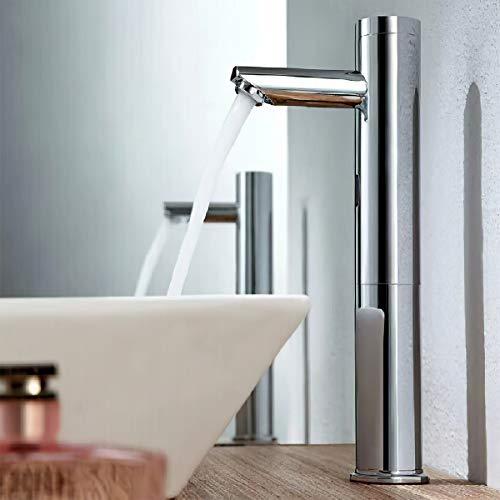 Gimify自動水栓 センサー水栓 単水栓 自動蛇口 洗面所 浴室 トイレ 洗面台 病院 学校 事務所 電池式 日本語説明書付き(単水栓-YZ-H32cm)
