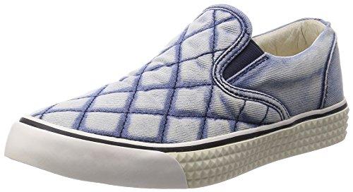 Diesel Damen Slipper Schlüpfschuhe Jeans Laika (EUR 39, Blau)