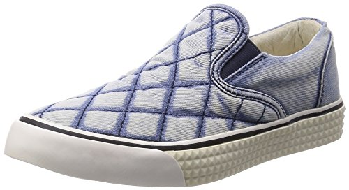 Diesel Damen Slipper Schlüpfschuhe Jeans Laika (EUR 40, Blau)