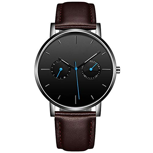 Diommest Nieuwe Men's Watch, Waterdicht Grote Dial Design, Multi-functie Luminous Week/kalender display, Fashion Trend Casual Belt Strap, Geschikt for Banquet/dagelijks gebruik Fashion Horloges vo