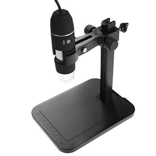 TenYua 1000X 8 LED 2MP USB Digital Microscope EndoscopeMagnifier Camera with Lift Stand
