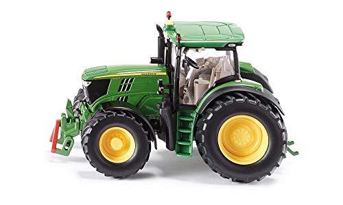 SIKU 3282, Tractor John Deere 6210R, 1:32, Dirección Ackermann y enganche, Metal/Plástico, Verde