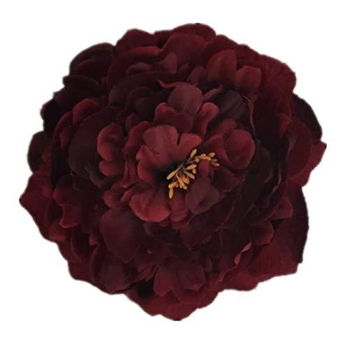 Kunst-Blüte auf Clip Pfingstrose rot...