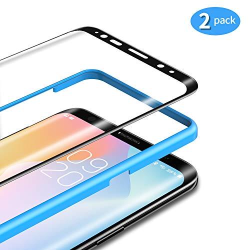 TAMOWA [2 Pezzi Vetro Temperato per Samsung Galaxy S9 Plus, Pellicola Protettiva in Vetro Temperato per Samsung Galaxy S9 Plus【Telaio di Installazione Incluso】, 9H Durezza, Face ID Compatible (Nero)