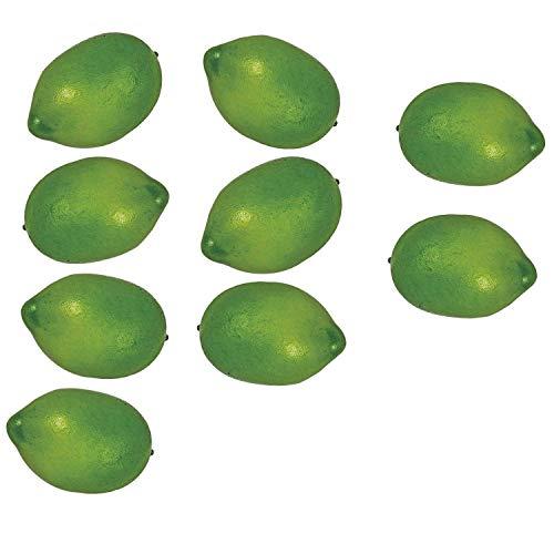 Monland 9 Piezas de Limones Artificiales Fruta Falsa para el Hogar Cocina Fiesta de Boda Festival Oto?o AccióN de Gracias DecoracióN Verde