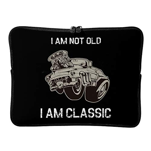 Standard I Am Not Old I Am Classic Laptop Bags Multifunctional Novelty Laptop Sleeve Suitable for Outdoor White 13 Zoll