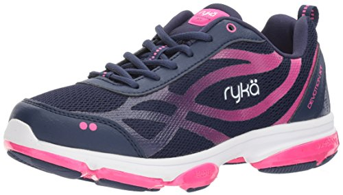 RYKA Women's Devotion XT Cross Trainer, Medieval Blue/Athena Pink/White, 11 M US