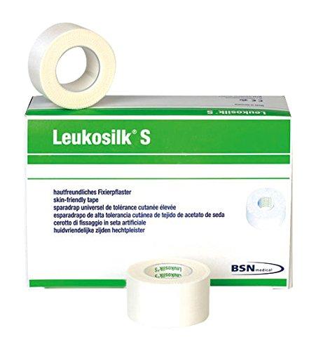 Leukosilk 46834 Verband, Klinikpackung, 2,5 cm x 9,2 m (12-er Pack)