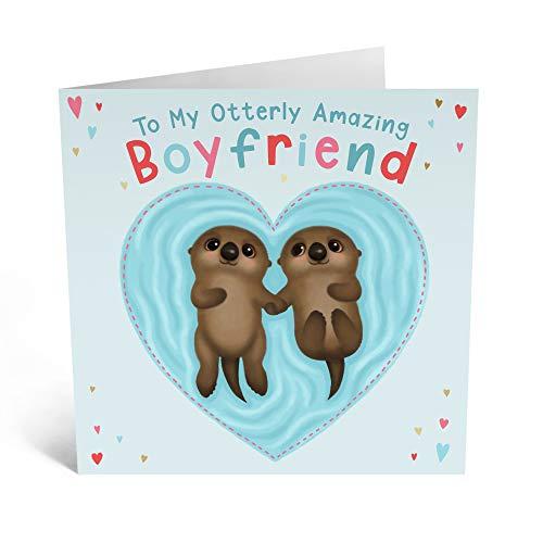 Central 23 - Tarjeta de cumpleaños para novio – 'Otterly Amazing Boyfriend'...