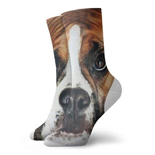 Kevin-Shop Chaussettes habillées pour Hommes Pack Boxer Dog Head Chaussettes drôles en Polyester