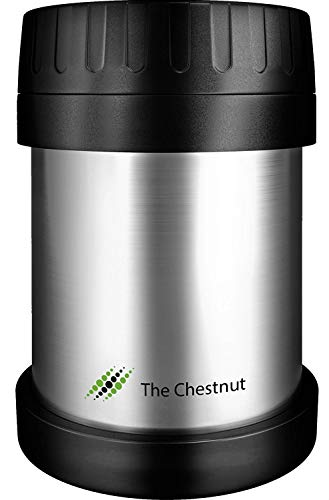 Soup Thermos Wide Mouth - Food Jar for Hot Food 10 oz - Non-Insulated Small Stainless Steel Thermo Lunch Box - Small Travel Vacuum Metal Container - Food Flask Wide Mouth